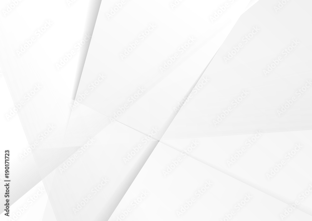 Fototapety, obrazy: Abstract grey hi-tech polygonal corporate background