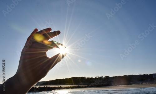 太陽光 Fototapete