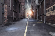 Modern City Side Street. Mixed...