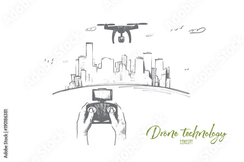 Drone technology concept Wallpaper Mural