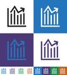 Info graphic, chart, Stock Market, Flat minimal icon vector