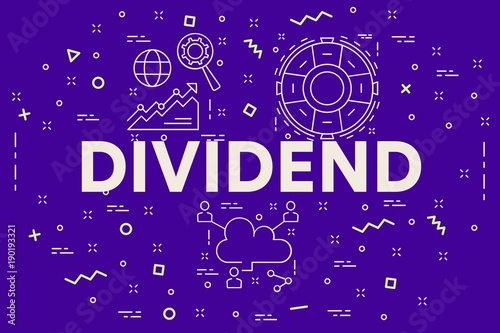 Fotomural Conceptual business illustration with the words dividend