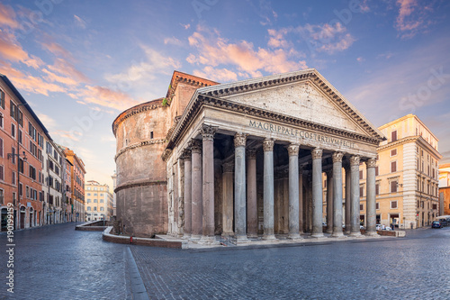 Türaufkleber Rom view of Pantheon in the morning. Rome. Italy.