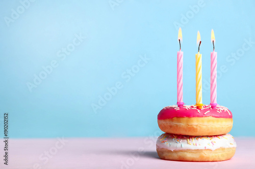 Donuts with candles