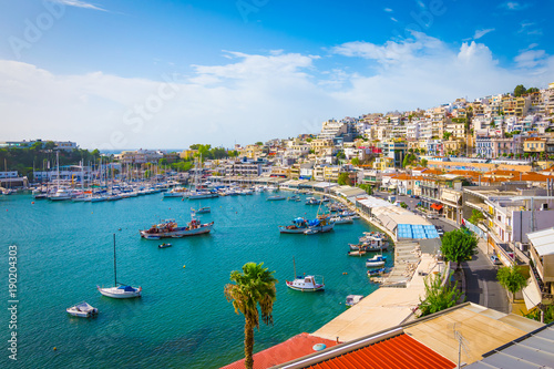 Printed kitchen splashbacks Athens Piraeus, Athens, Greece. Mikrolimano harbour and yacht marina.