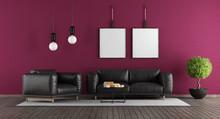 Purple And Black Modern Lounge