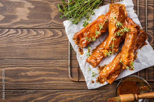 Fototapety, obrazy: Raw pork ribs