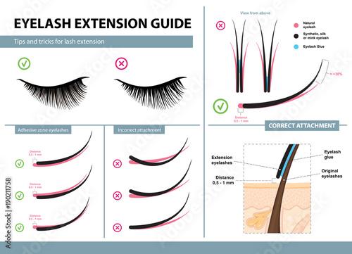 Fotografia Eyelash extension guide