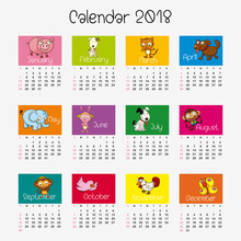Calendar Template With Differe...