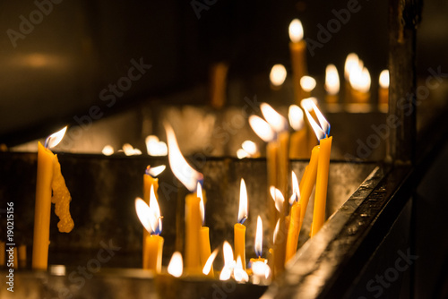 In de dag Vuur church candles