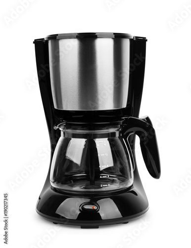 Fototapeta Coffee maker machine isolated on white background