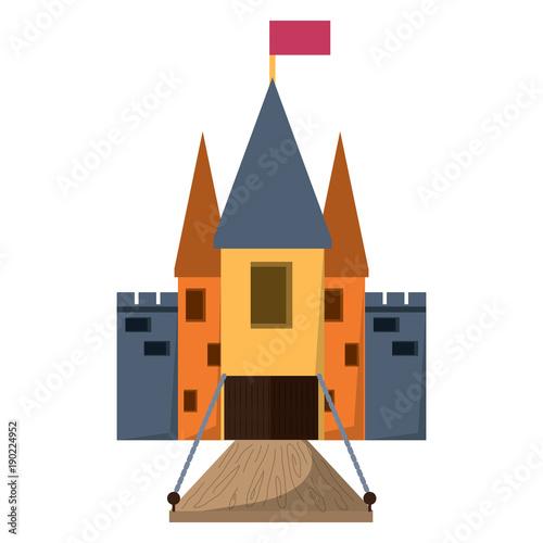 Photo Medieval castle with drawbridge