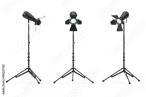 Foto op Canvas Licht, schaduw Studio Lighting with Stand. 3d Rendering