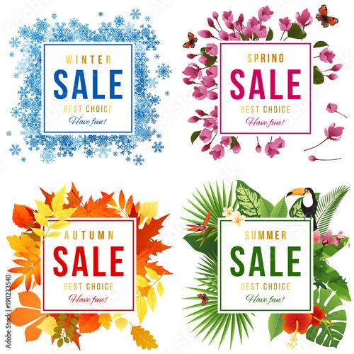 Four Seasons sale Tableau sur Toile