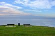 Bench with ocean panoramic view