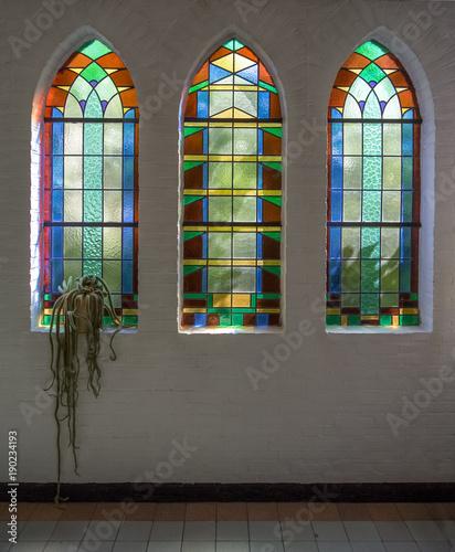 Photo  Three stained glass windows