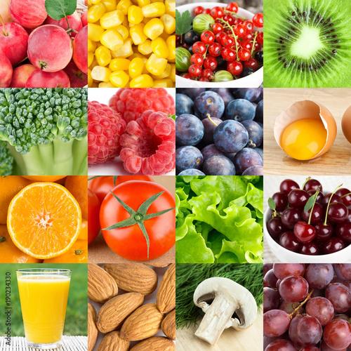 Background of fresh healthy food © seralex