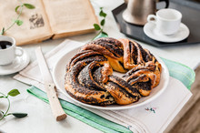 Poppy Seed Braided Babka Wreath