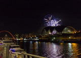 Fireworks at Newcastle Quayside on New Year's Eve