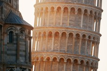 Leaning Tower Pisa Closeup At ...