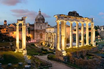 Panel Szklany Rzym Rome Forum night