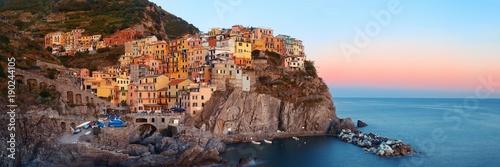 Poster Liguria Manarola panorama in Cinque Terre