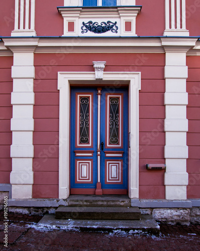 Fotografie, Obraz  Colorful nice porch with pillars