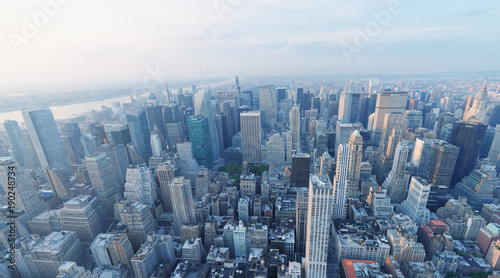 Photo  NEW YORK CITY - OCTOBER 25, 2015: Aerial view of city skyline