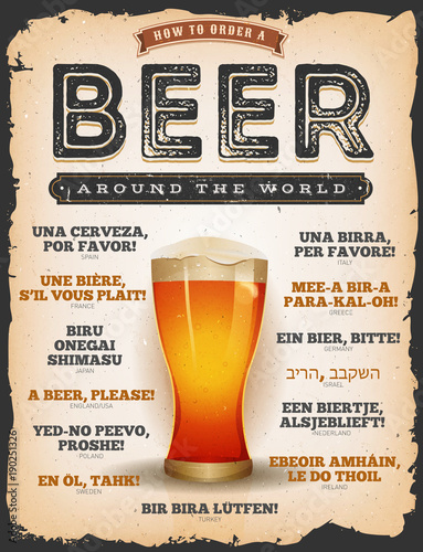 How To Order A Beer Around The World Fototapet