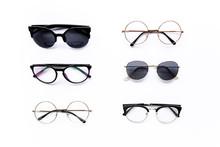 Female Sunglasses On White Bac...