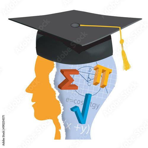 Graduation Student of math Canvas Print