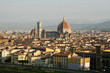 Summer. Italy. Florence. Panoramic view of the city.
