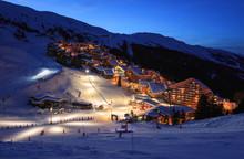 The Slopes Of A Ski Resort (Me...