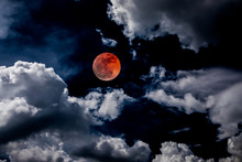 Blood Moon Red Eclipse Black S...