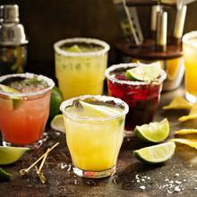 Variety Of Margarita Cocktails
