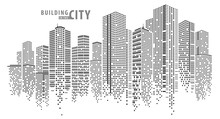Abstract City Vector, Transpar...