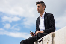 Pensive Handsome Guy Imaging F...