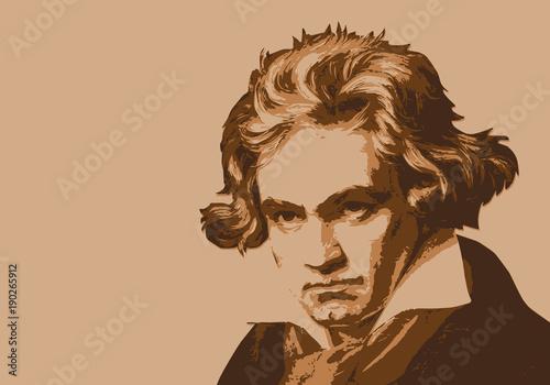 Photo Beethoven - musicien - portrait - personnage historique - musique - personnage c