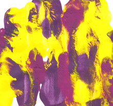 Abstract Daubs Of Yellow, Purp...