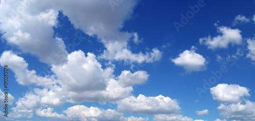 Obraz Blue sky clouds sun  - fototapety do salonu