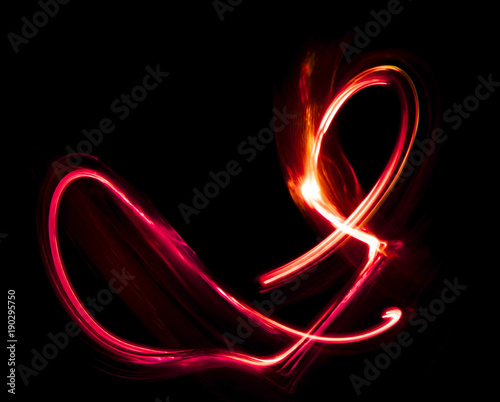 Fototapety, obrazy: Overlay light, an abstract pattern on a dark background