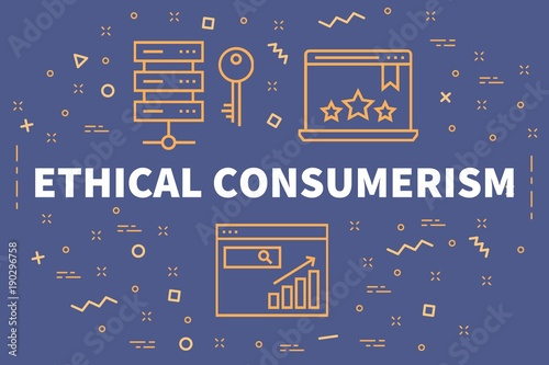 Fototapeta  Conceptual business illustration with the words ethical consumerism