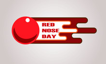 Red Nose Day Card. Vector Ill...