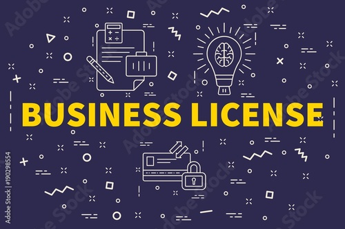Fotografía  Conceptual business illustration with the words business license