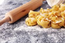 Making Homemade Pasta Linguine...