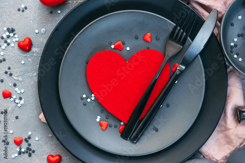 Romantic Dinner Concept Valentine Day Or Proposal Background Top