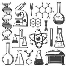 Vintage Laboratory Research Elements Set