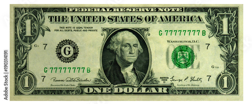 Fotografie, Obraz  One dollar picture in high resolution. 3D rendering.