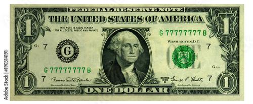 Fototapeta One dollar picture in high resolution. 3D rendering. obraz