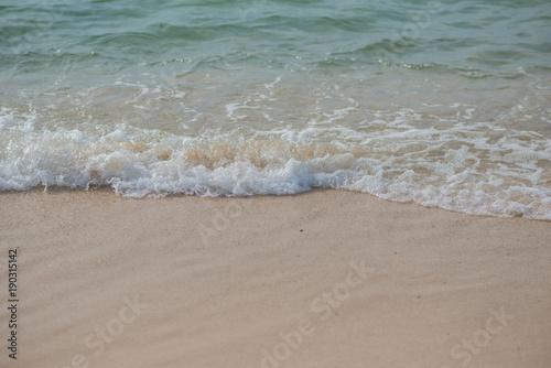 Foto auf Gartenposter Strand wave on the beach